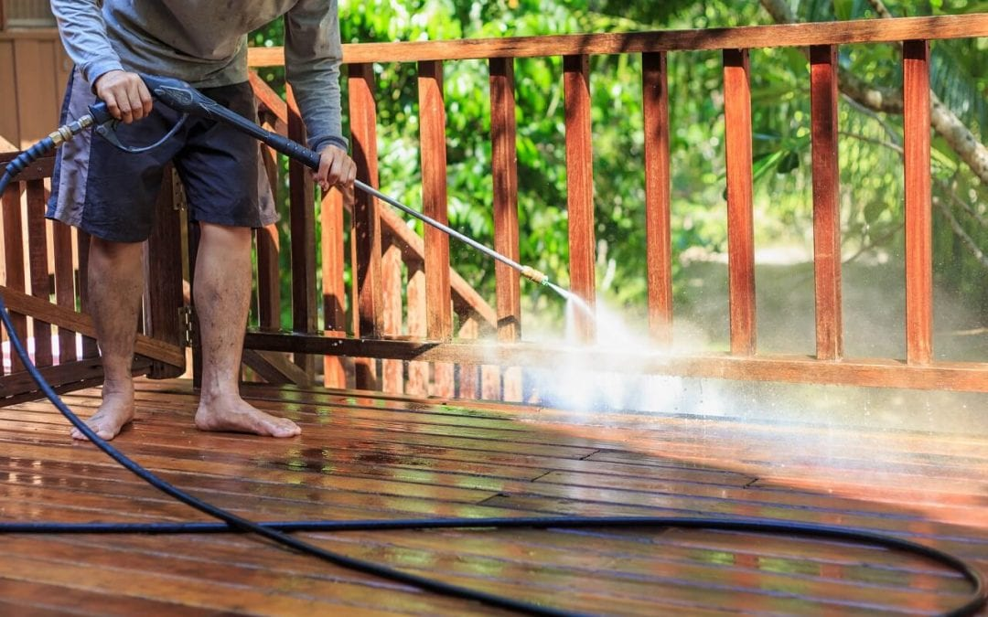 deck upgrades include thoroughly cleaning the space